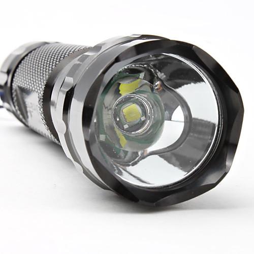 Водонепроницаемый 5-режимный светодиодный фонарик UltraFire WF-501B Cree XM-L T6 (1000 LM, 1x18650, черный) Lightinthebox