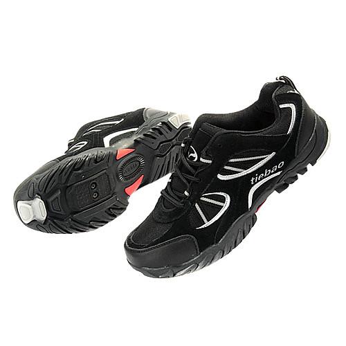 езда на велосипеде MTB СПД обуви и повседневной обуви с cowsuede кожа и дышащий сетчатый верх черный цвет Lightinthebox 3007.000