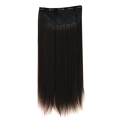100% синтетическое тепло дружественных шелковистая прямая клип в наращивание волос Lightinthebox 644.000