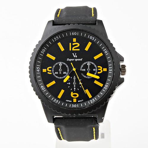 Мужские кварцевые часы с черным корпусом V6 Lightinthebox 386.000