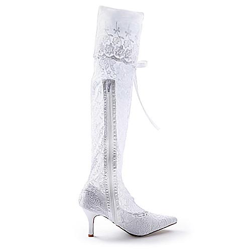 Свадебные сапоги на высоком каблуке