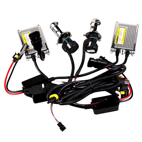h4 HID Xenon комплект с тонким металлическим балластом 55w, flexbie лампы Lightinthebox 3351.000