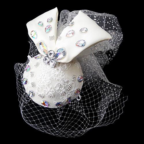 тюля и атласа свадебный головной убор с сеткой и стразами Lightinthebox 429.000