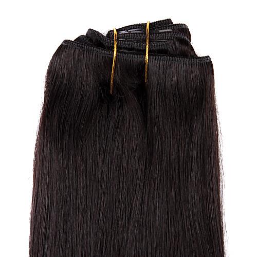 15-дюймовые 7 шт 70% человеческих волос шелковистые прямые клип в наращивание волос нескольких цветов Lightinthebox 1546.000