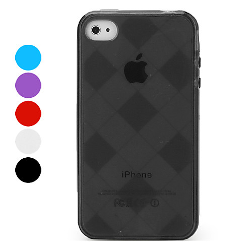 Защитный чехол из кожзама в клетку для iPhone 4 и 4S Lightinthebox 102.000