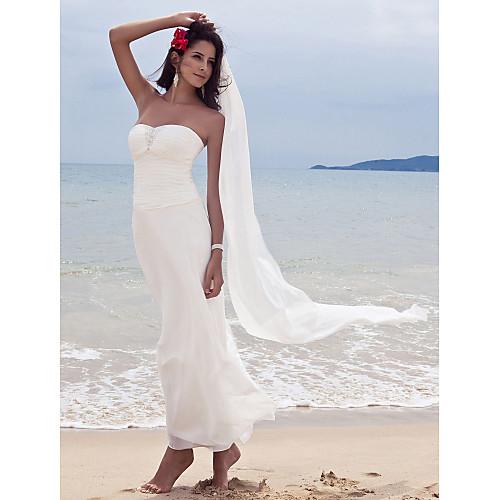 Шифоновое свадебное платье футляр с накидкой Lightinthebox 3763.000