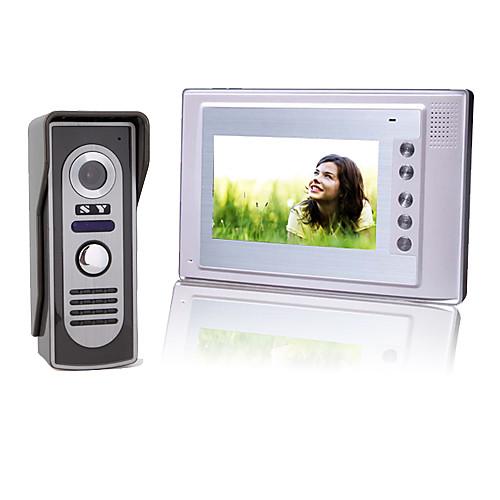 7-дюймовый цветной TFT LCD видео домофон домофон с водонепроницаемой камерой (420 твл) Lightinthebox 3136.000