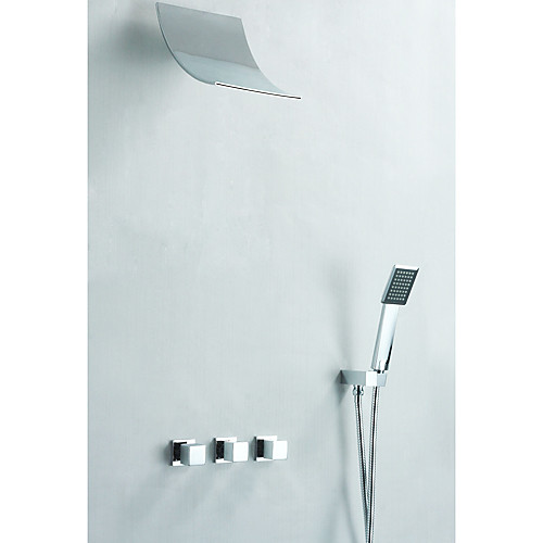 современный смеситель для душа с дождем душем  квадратная ручной душ Lightinthebox 9453.000