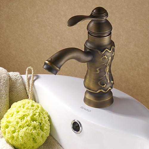 антикварный твердой латуни Centerset раковины ванной кран (античный отделка медь) Lightinthebox 4726.000