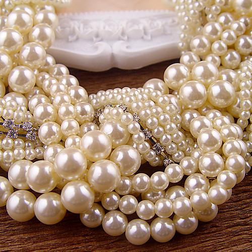 имитация жемчуга белого горного хрусталя ожерелья Lightinthebox 583.000