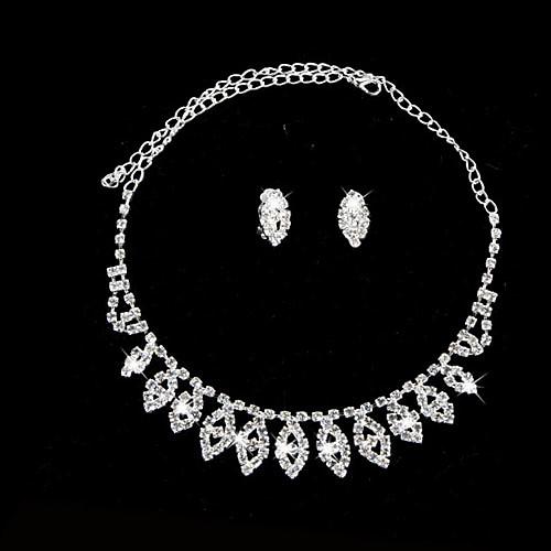 элегантной ожерелье горный хрусталь лист и серьги набор Lightinthebox 270.000