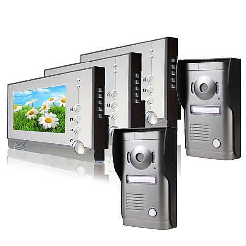 Три 7-дюймовый монитор цветной видео домофон (2-х слойная камера с защитой от атмосферных воздействий) от Lightinthebox.com INT