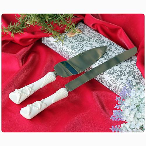 морские звезды и раковины ручки в изысканных керамических ножей свадебный торт и набор серверов Lightinthebox 1288.000