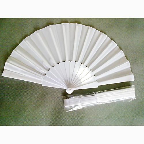 классические белые ткани и пластик складной веер рук (комплект из 4) Lightinthebox 214.000