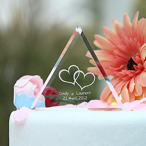 персонализированных треугольник кристалл свадебный торт цилиндр Lightinthebox 386.000