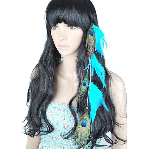 1 шт клип в расширениях павлинье перо волос Lightinthebox 257.000