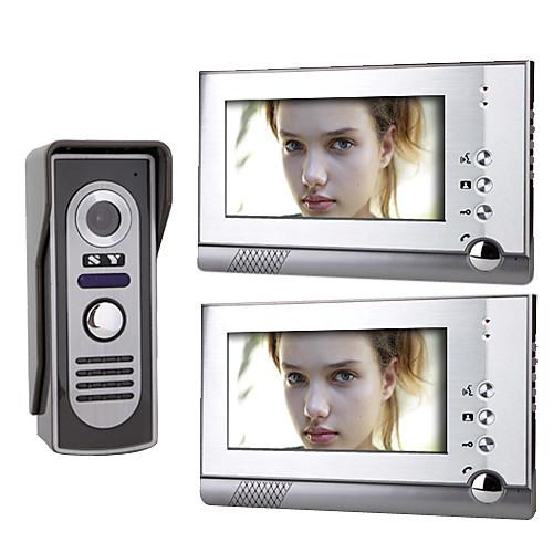 7-дюймовый цветной TFT LCD видео домофон системы (1 камера с 2 монитора) Lightinthebox 6015.000