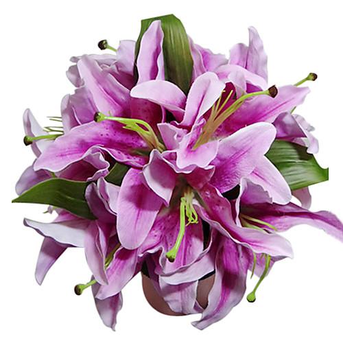 сиреневый атлас лилия букет невесты Lightinthebox 624.000