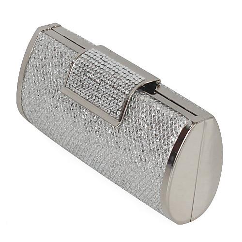 сумки / муфты в серебряные сатин с кристально / горный хрусталь Lightinthebox 1073.000