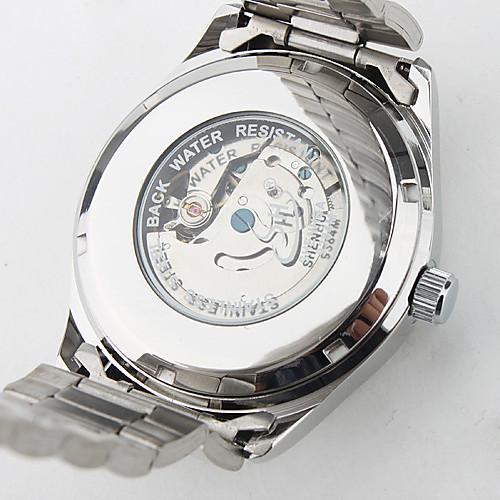 мужской авто-механический стиль одежды серебро стали наручные часы Lightinthebox 944.000