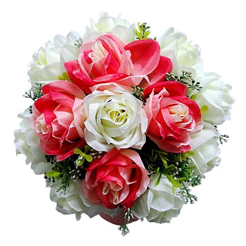 красного и белого атласа выросли свадебный букет Lightinthebox 644.000