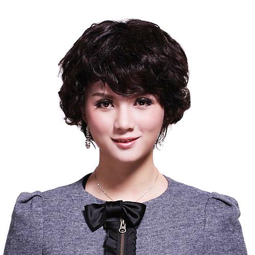 шапки короткий 100% человеческих волос элегантный парик волос Lightinthebox 3007.000