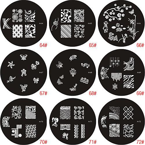 ногтей штамп штамповка изображения шаблон пластины серии M Lightinthebox 85.000