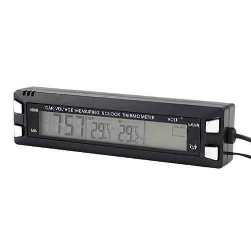 3 в 1 термометр часы напряжения цифровой монитор автомобиля Lightinthebox 558.000
