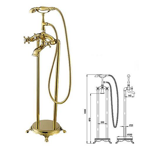Античный напольный смеситель для ванной с ручной душевой лейкой Lightinthebox 17188.000
