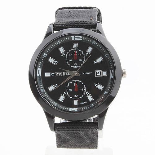 ткани унисекс в аналоговые кварцевые наручные часы (черный) Lightinthebox 192.000