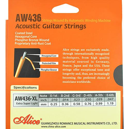 Алиса - (aw436) стали акустические гитарные струны (010-047) Lightinthebox 429.000