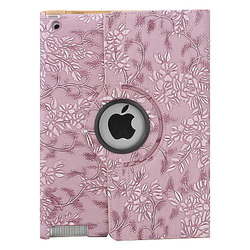 Вращающийся на 360 град. чехол из кожзама с подставкой для the New iPad и iPad 2 (разные цвета) Lightinthebox 343.000