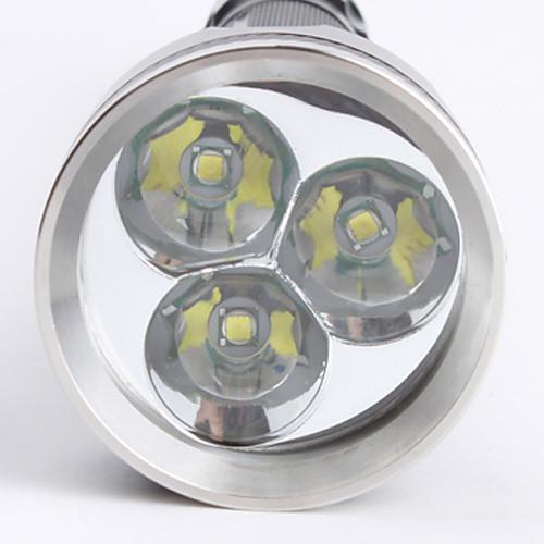 Фонарик светодиодный, Sky Ray 3XT6-818 5-Mode Cree XM-L T6  (4000LM, 2x18650, черный)