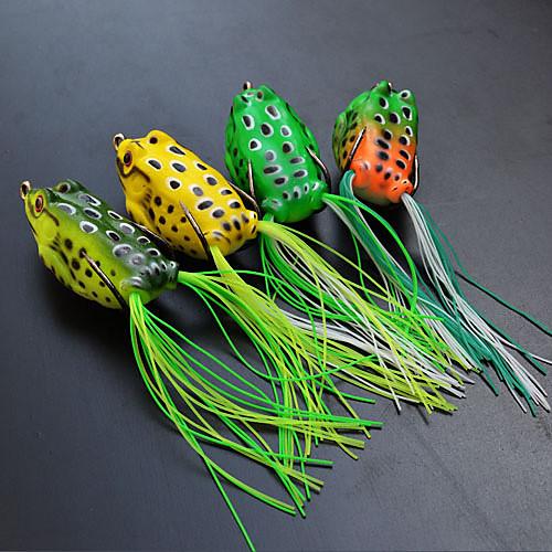 мягкие приманки лягушка 55mm 13g тонущий пластиковый рыболовные приманки (цвет ассорти) Lightinthebox 257.000