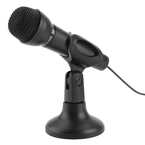 премия 3,5 микрофон с подставкой для ПК и ноутбуков (черный) Lightinthebox 257.000