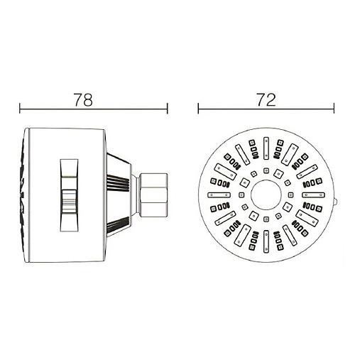 класс душ абс голову 3 функции - хромированная отделка Lightinthebox 1288.000