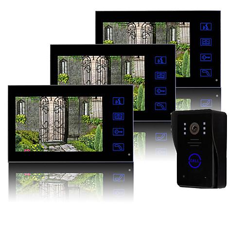7-дюймовый TFT LCD видеодомофон с ключевыми сенсорный (1 камера с 3-мя мониторами) Lightinthebox 11601.000