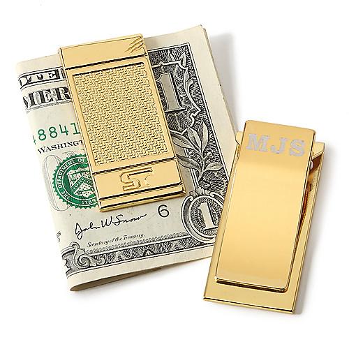 Серебряный зажим для денег бык