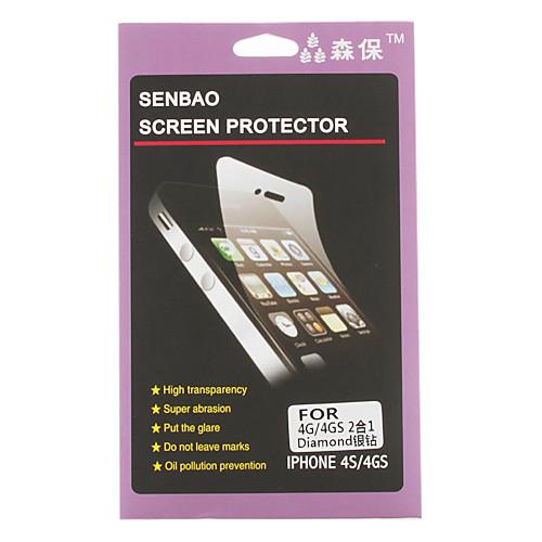 Передняя и задняя алмаз анти-излучения протектор экрана для iphone 4 и 4S Lightinthebox 85.000