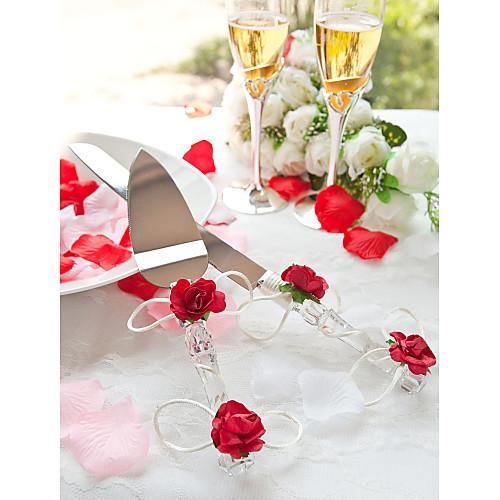 кристалла красной розы свадьба торт выступающей множество Lightinthebox 541.000