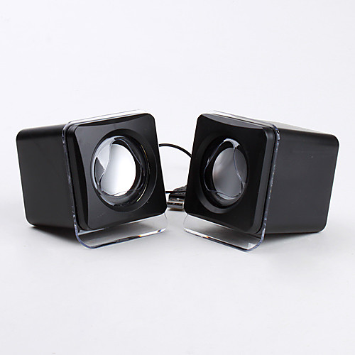 портативный проводной 3,5 мм USB куб стиль черные колонки для iphone mp4 mp3 планшетный ПК сотовый телефон Lightinthebox 428.000