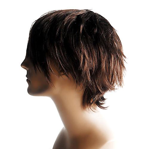 шапки высококачественных синтетических короткий прямой мужской парик Lightinthebox 2148.000