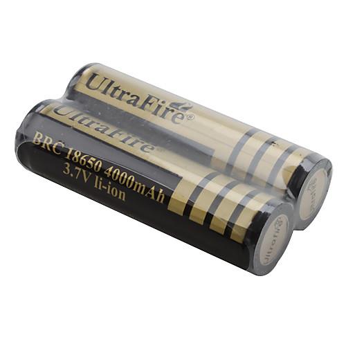 UltraFire BRC 18650 3.7В 4000мАч Li-ion аккумуляторы (2 штуки, под золото) Lightinthebox 257.000