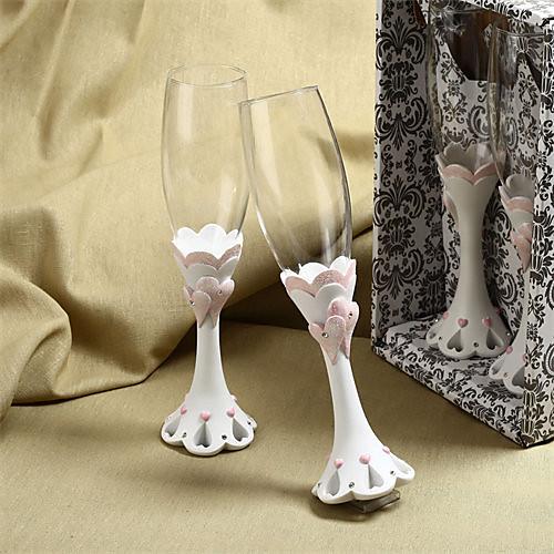 шикарный дизайн охватывает сердце флейты свадебный тост Lightinthebox 785.000