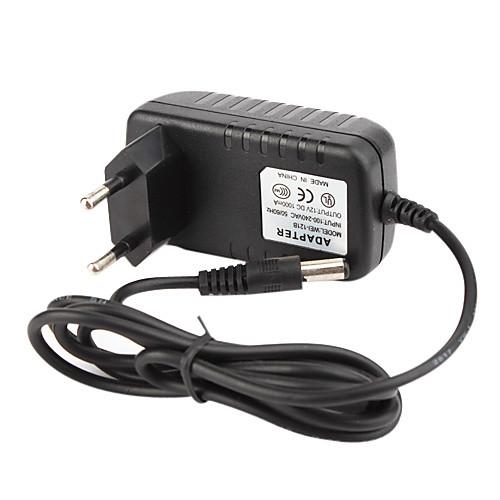 Система видеонаблюдения адаптер питания  AC 100 ~ 240V 50/60Hz вход постоянного тока 12V 1000mA выход  стандарт ЕС Lightinthebox 214.000