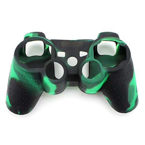 защитный камуфляж стиль силиконовый чехол для PS3 контроллер (зеленый и черный) Lightinthebox 126.000