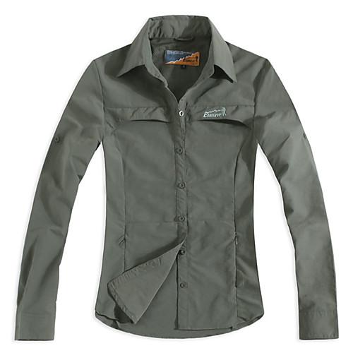 EAMKEVC длинным рукавом женская быстро сухой рубашка анти красный УФ влагопроницаемость, зеленый, желтый Lightinthebox 1288.000