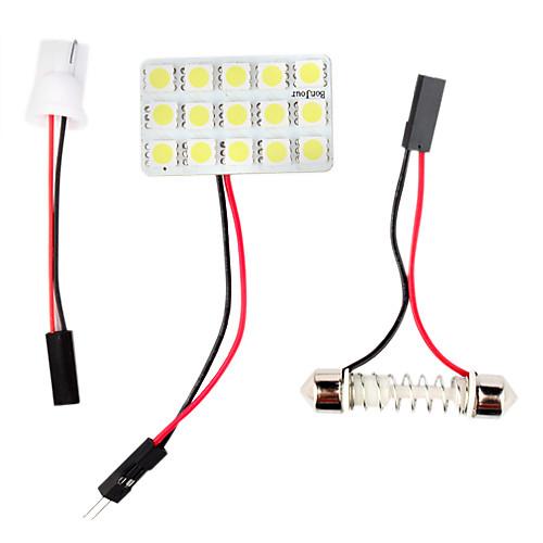 t10 BA9s 0.18wx15 прозрачный свет 15-SMD 5050 под руководством легкое чтение автомобиля (12 В постоянного тока) Lightinthebox 171.000