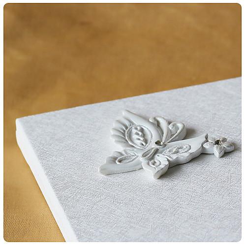 бабочка тематические гостевая книга свадьбы в белой смолы Lightinthebox 644.000