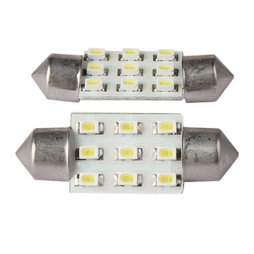 BA9s 9 под руководством салона купол лампа для чтения 2шт (белый) Lightinthebox 128.000